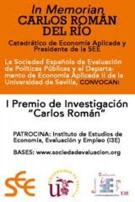 Cartell I Premi d'Investigació en avaluació de polítiques publiques