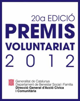 Imatge del Premi Voluntariat 2012