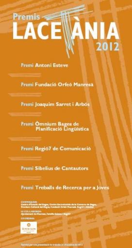 Premis Lacetània 2012