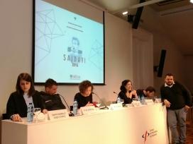 Imatge de la presentació de l'informe, al Col·legi de Periodistes. Font: Irídia