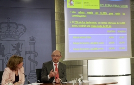 Presentació Reforma Fiscal. Font: Ministerio de Hacienda