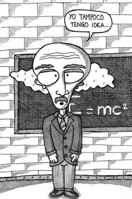Dibuix d'un professor que no està preparat per fer la formació. Font: Flicr.