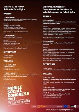 Cartell amb el programa del Mobile Social Congress