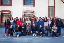 Alumnes projecte 'Aprendre a mirar. Trencant murs invisibles'