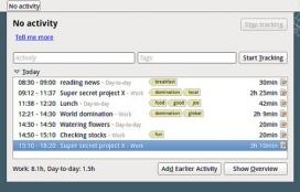 Project Hamster permet recollir tota la feina que realitzeu i classificar-la per etiquetes