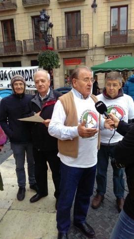 Diosdado Toledano en un acte de protesta. Font: Comissió promotora de l'ILP per a l'RGC