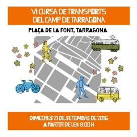 Cartell de la Cursa de Transports de Tarragona (imatge:transportpublic.org)