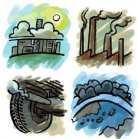 Les dades de les  diverses organitzacions concorden que la contaminació de l'aire supera els límits recomanats i és el principal problema de salut pública (imatge: Agència Europea del Medi Ambient)