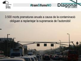 Per millorar la qualitat de l'aire cal actuar sobre el model de mobilitat, ja que els cotxes són els principals causants de les emissions contaminants (imatge: qualitatdelaire.org)
