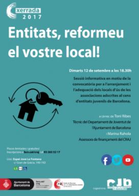 Sessió informativa: 'Entitats, reformeu el vostre local!'