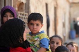 Nen refugiat sirià a Líbia. Font: ACNUR Américas, Flickr