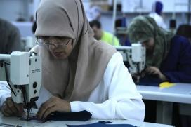 Treballadora tèxtil de Tànger. Font: SETEM Catalunya (Flickr)