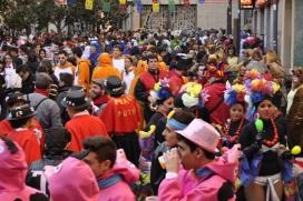 Rua de disfresses al Carnaval de Sallent (Font: Facebook Carrilet)