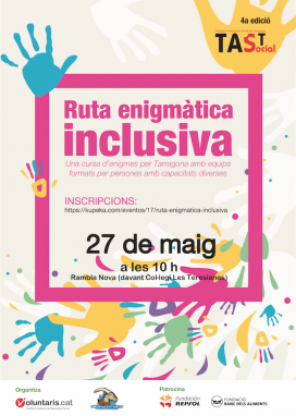 Cartell de la 1a ruta enigmàtica inclusiva de Tarragona