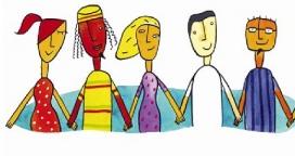 Il·lustració d'un grup de joves. Font: Artà Jove