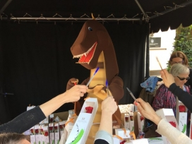 Imatge de la parada de Sant Jordi 2016 de la Fundació IReS