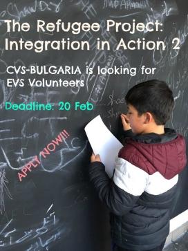 Cartell per participar al projecte The Refugee Project. Font: SCI Catalunya
