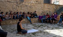 Voluntariat del Servei Civil Internacional de Catalunya.
