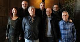 Representants del SCIC, el departament de Cultura, l'SGAE i La Xarxa (font: Joan Font)
