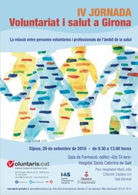 Cartell de la IV Jornada de voluntariat i salut a Girona