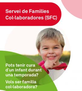 Díptic informatiu del Servei de Famílies Col·laboradores