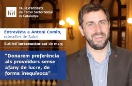 Antoni Comín, conseller de Salut. Font: Taula del Tercer Sector