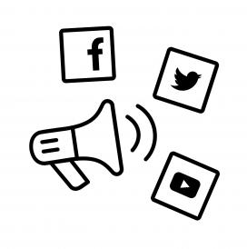 Les xarxes socials ens serveixen com a megàfon. Font: Wikimedia