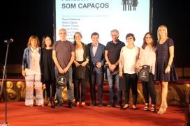 """Integrants de """"Som Capaços"""" en una trobada d'entitats"""
