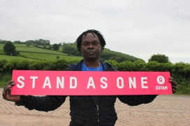 Baaba Maal participa al 'Stand As One'. Font: Emmanuelle Parr/Oxfam