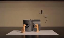 Seqüència del vídeo d'stopmotion premiat com a Millor Spot Júnior del 4t Concurs d'Animacions per la Pau. Font: Fundipau