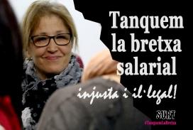 Imatge de difusió de la campanya #TanquemLaBretxa de la Fundació Surt