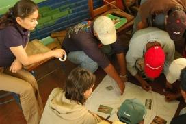 Taller amb joves en el marc d'un projecte de cooperació finançat pel Fons de Solidaritat (Font: FAS)