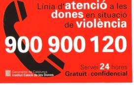 Les dones que necessiten suport poden trucar al 900 900 120. Font: ICD