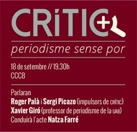 Imatge del tarjetó de presentació de Crític al CCCB