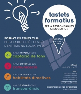 Els Tastets Formatius coorganitzats per Causes i la Fundació Pere Tarrés.