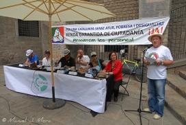 Toledano, a la dreta, en un una parada de la comissió. Font: Comissió promotora de l'ILP per a l'RGC