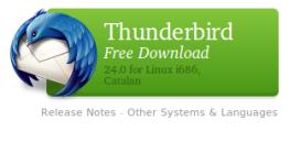 Thunderbird és un client de correu electrònic molt potent de Mozilla.