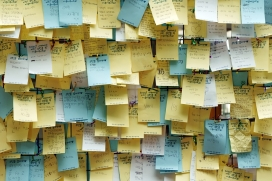 Post-it a la pissarra