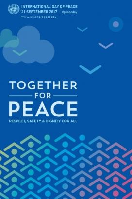 Imatge gràfica de la campanya Together for Peace.