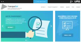 Visualització de la pàgina inicial de TransparENT, l'eina de transparència per a entitats ja disponible