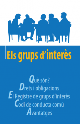 Tríptic informatiu sobre els grups d'interès. Font: Departament de Justícia