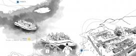 Il·lustració d'una ruta que segueixen les persones migrades i refugiades. Font: Metges del Món
