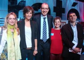 Violant Cervera, Agnès Marquès, Antoni Bassas, Francina Alsina i Lluís Bernabè