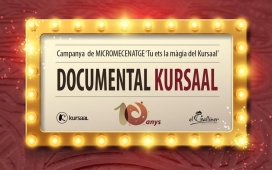 "Imatge campanya micromecenatge ""Tu ets la màgia del Kursaal""."