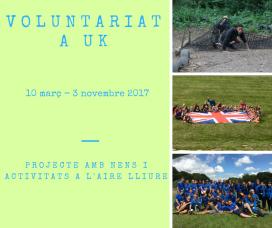 Voluntariat en l'àmbit del lleure al Regne Unit. Font: COCAT
