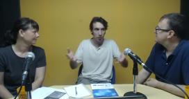 Martina Mayrhofer (Teb), Ruben Suriñach (XES) i Pedro Molina (UAB), al webinar de xarxanet.org