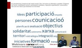 Captura del webinar sobre gestió del voluntariat