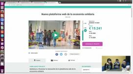 Webinar sobre opcions de finançament. Font: Captura de pantalla del webinar