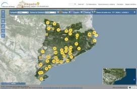 La nova visualització dels mapes de la Wikipedra (imatge: wikipedra.catpaisatge.net)