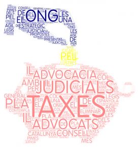 Des del 2015, les persones físiques no han de pagar les taxes judicials. Font: Elaboració pròpia